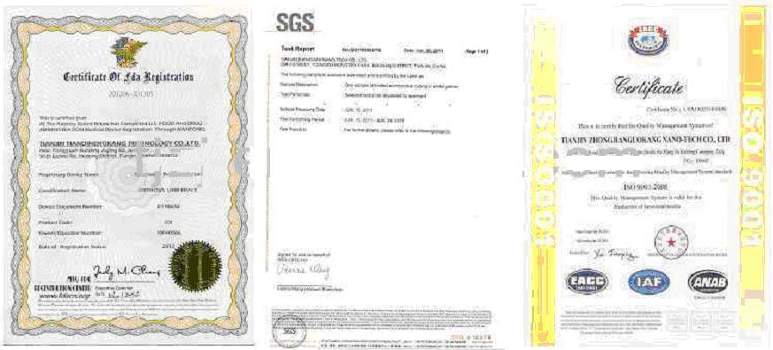Alkaline Water Stick Certificates